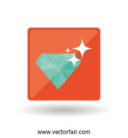 diamond design over white background, vector illustration