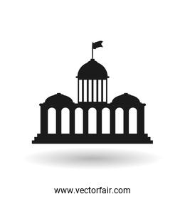 vote design over white background, vector illustration