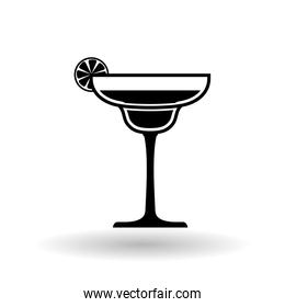 cocktail design over white background, vector illustration