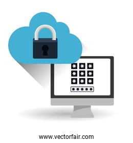 Security system  vector design