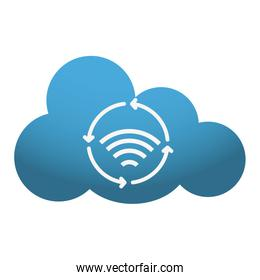 cloud storage and wifi icon image
