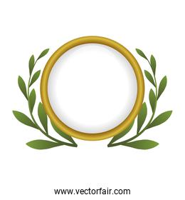 decorative wreath of leaves
