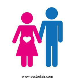 couple man and woman icon image