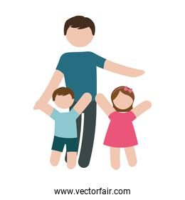 father and children icon image