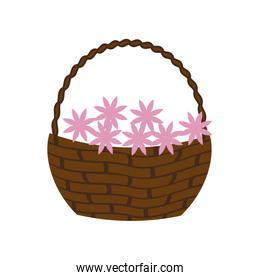 flowers basket icon