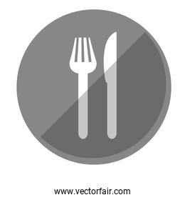 cutlery fork and knife icon image