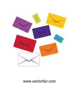 message envelope mail related icons image