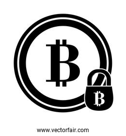 letter B as emblem bank related icons image