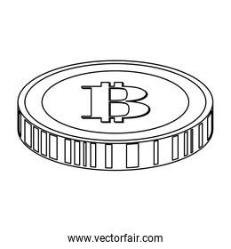 coin with letter b money related icon image