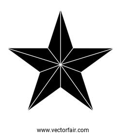 Star showing military authority icon image