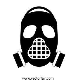 Mask of military protection icon design
