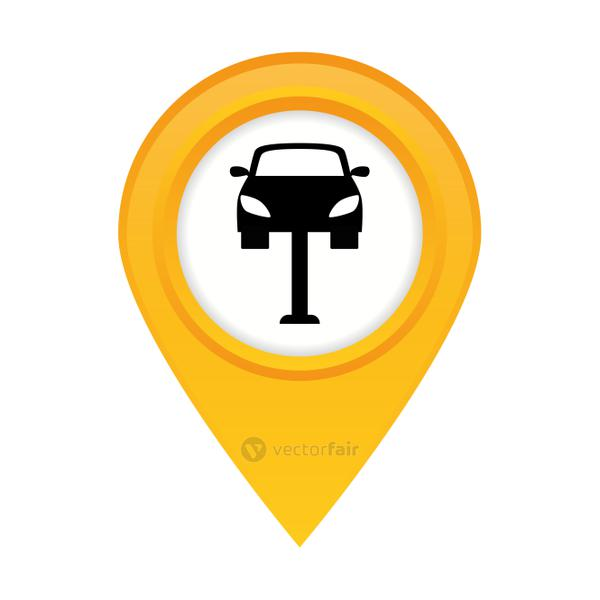 car workshop related icons image
