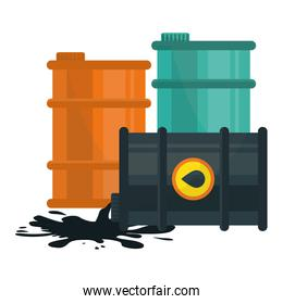 gasoline or oil industry related icons image