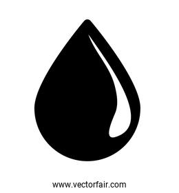 Black drop of gasoline image design