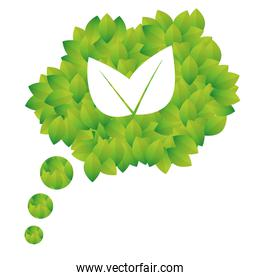 Green bubbles leaves icon image