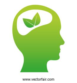 Green brain leaves icon image