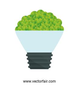 Green bulb leaves icon image
