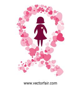 breast cancer awareness related icons image