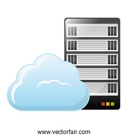 web hosting or data center related icons image
