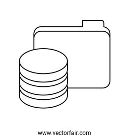 figure data center related icon image