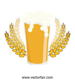 beer glass with branches wheat image