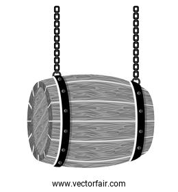 grayscale wooden barrel icon image design