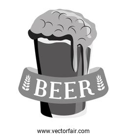 grayscale glass beer icon image design