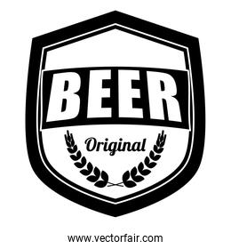 black beer related emblem icon image