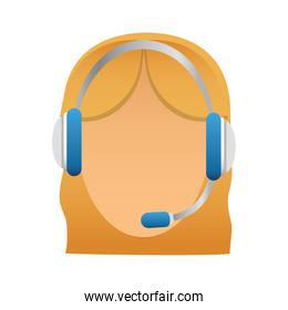 customer support Icon image of a faceless woman