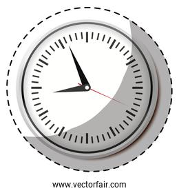 silver wall clock icon image