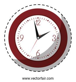red wall clock icon image