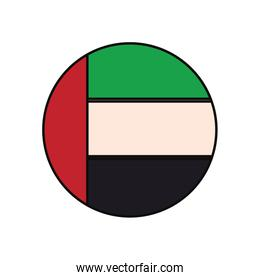 United Arab Emirates round icon flag