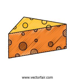 cheese doodle  vector illustration