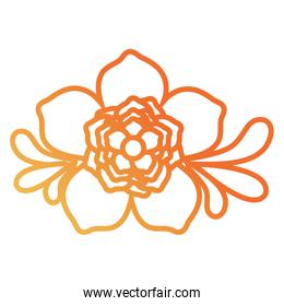 flower with  leaves  design