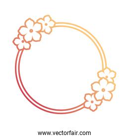 round frame  vector illustration