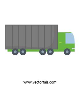 gray and green  truck  vector illustration