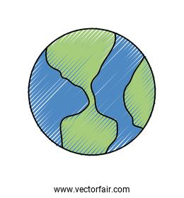 earth planet icon  image