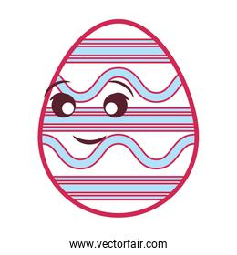 pink easter egg with lines  design
