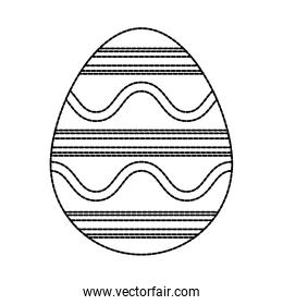 easter egg  with  cuved lines vector illustration