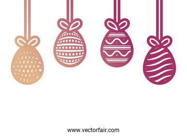 easter eggs pendant  vector illustration