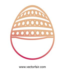 easter egg with dots and lines vector illustration