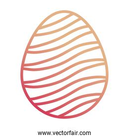 easter egg with    curved lines   design