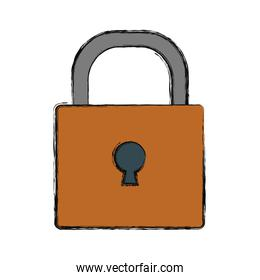 padlock vector illustration