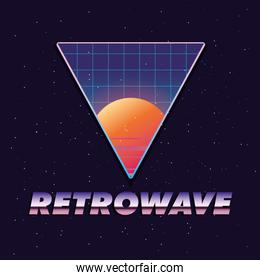 Futuristic and retrowave design