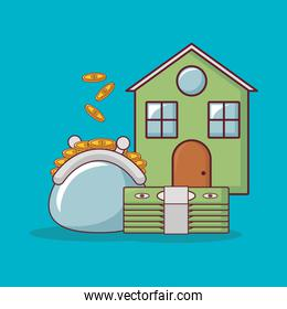 house and money related icons