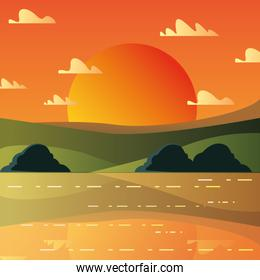 Sunset landscape design