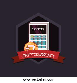 Cryptocurrency concept design