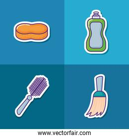 house cleaning illustration