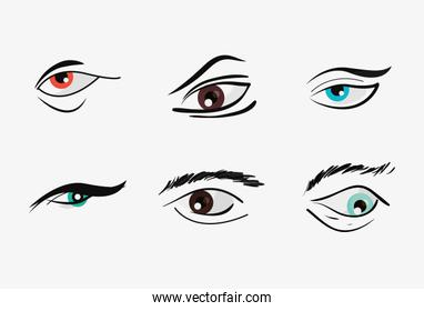 eyes and eyebrows design