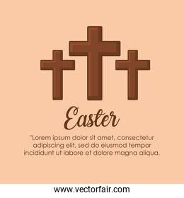 Infographic of easter design